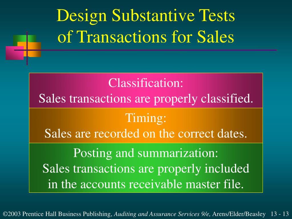 Design Substantive Tests