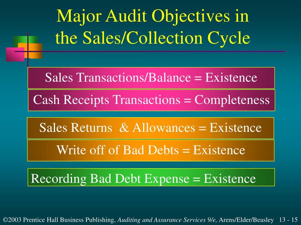 Major Audit Objectives in