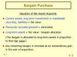 bargain purchase