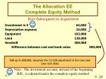 the allocation ee complete equity method30