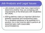 job analysis and legal issues