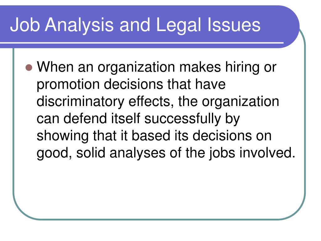 job analysis and hiring decisions at ovania chemical Free essay: 6/11/2013 6/11/2013 job analysis and hiring decisions at ovania chemical mba 509- section 4 tahira khan (1110877) rajin haq (1110878) md.