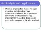 job analysis and legal issues22
