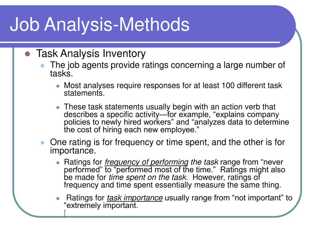 Job Analysis-Methods