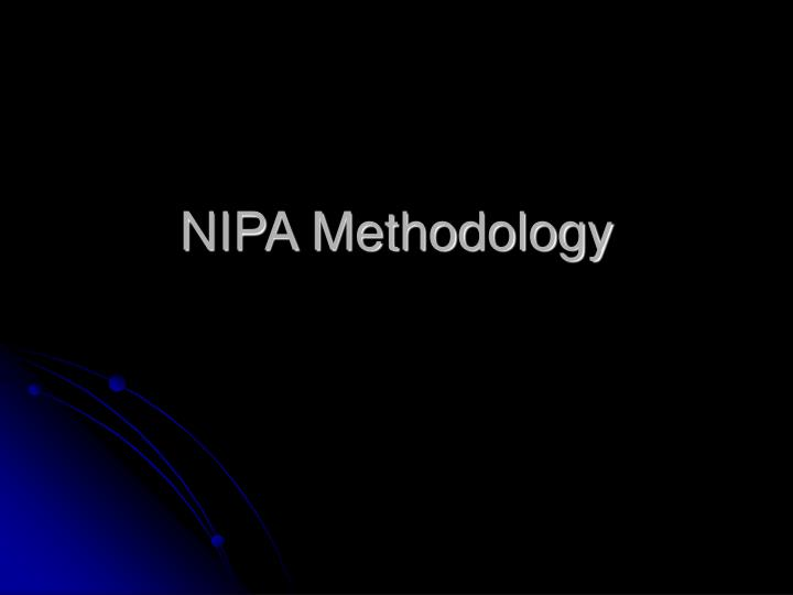 Nipa methodology