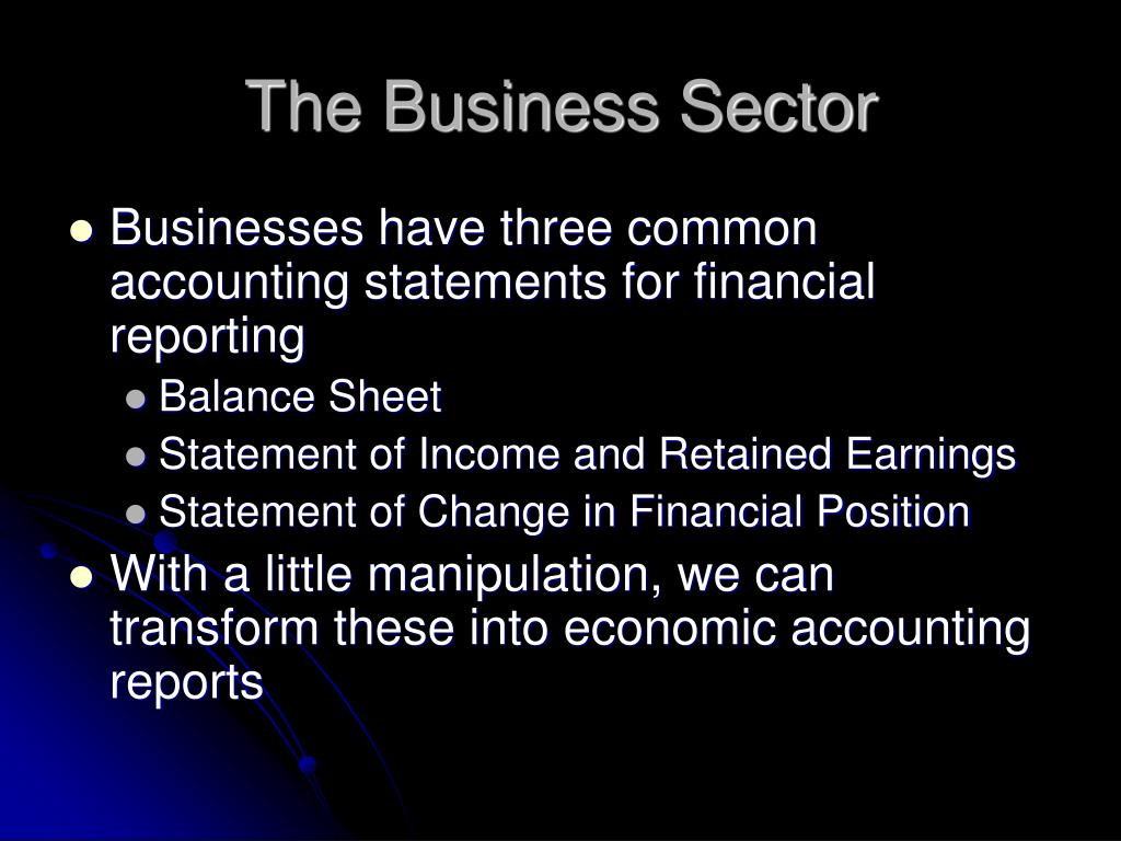 The Business Sector