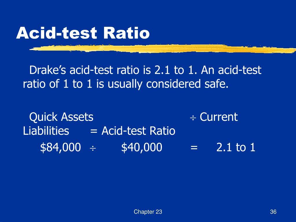 Acid-test Ratio
