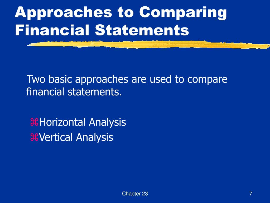 Approaches to Comparing Financial Statements