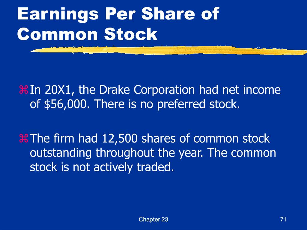 Earnings Per Share of Common Stock