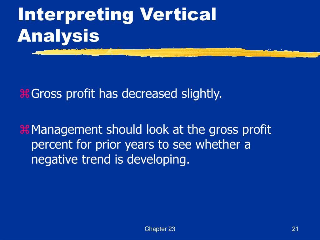 Interpreting Vertical Analysis