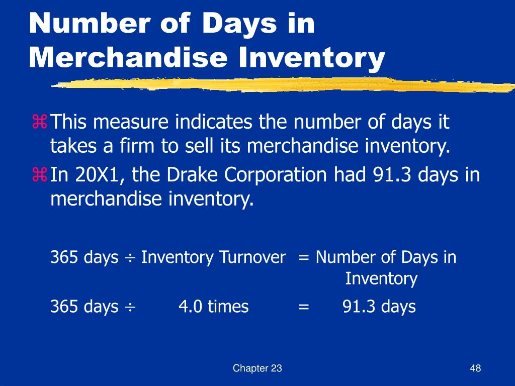 Number of Days in Merchandise Inventory