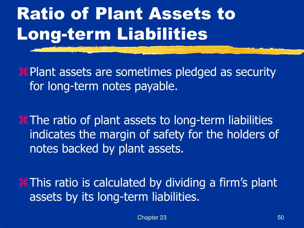 Ratio of Plant Assets to Long-term Liabilities