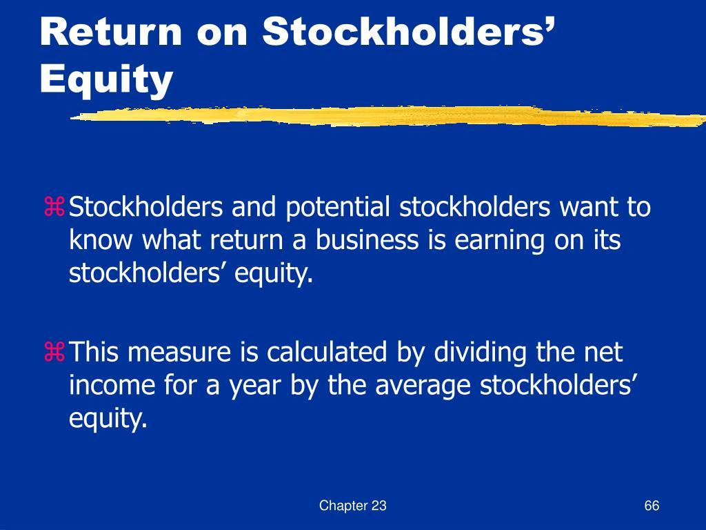 Return on Stockholders' Equity