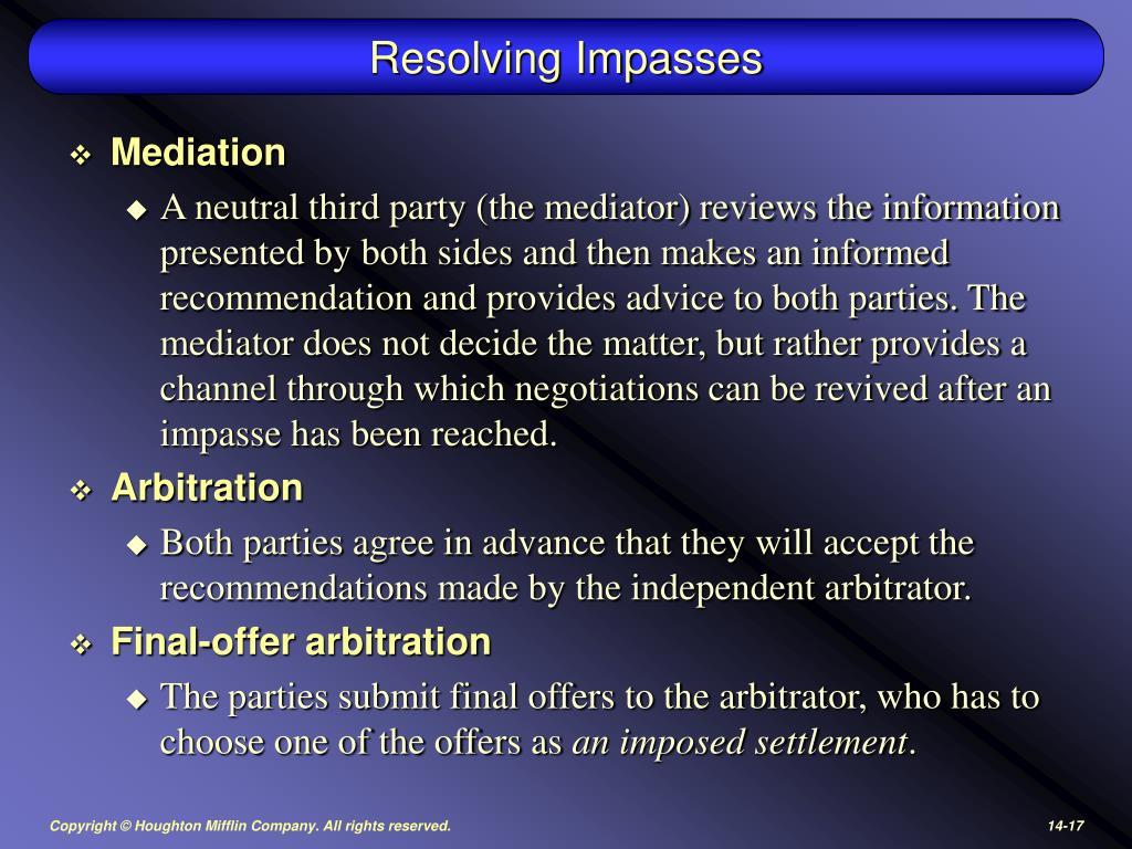 Resolving Impasses