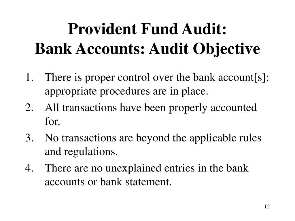Provident Fund Audit: