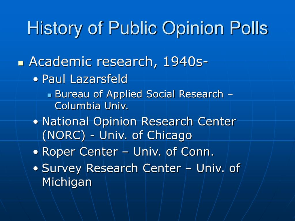 opinion poll and strong public opinion