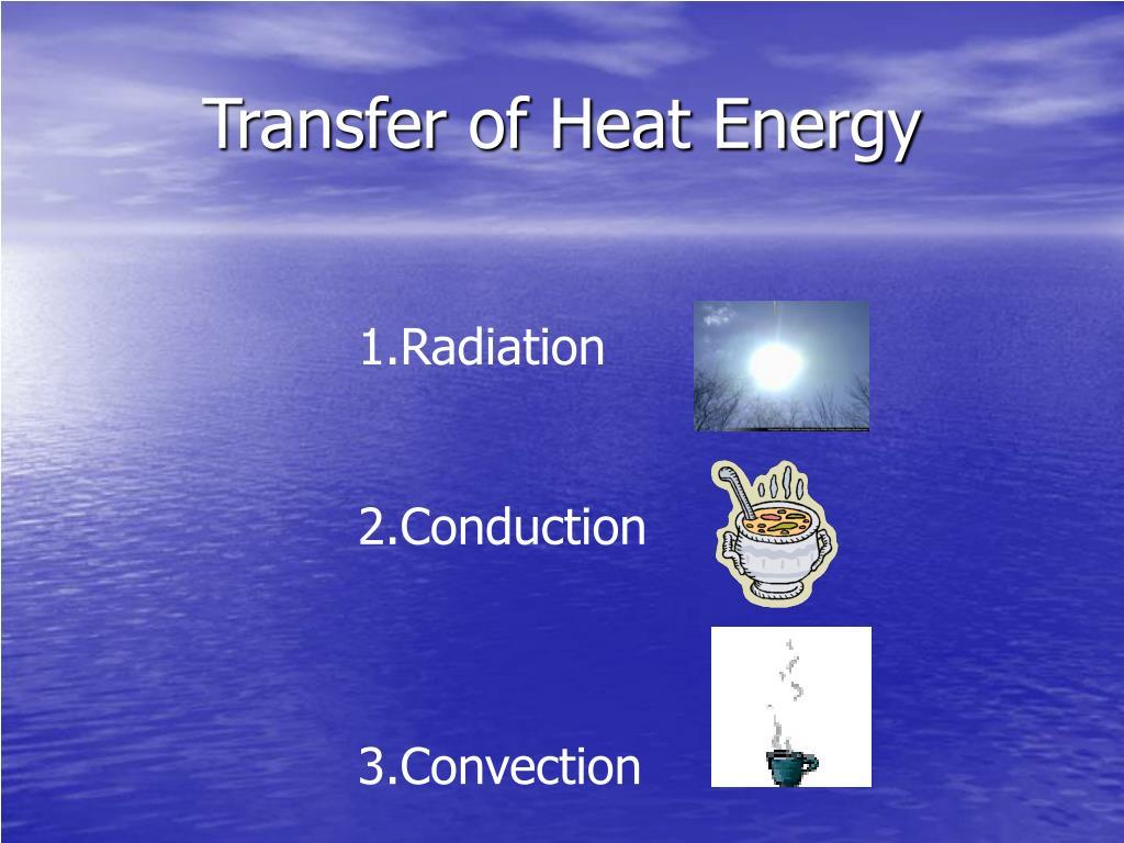 Transfer of Heat Energy