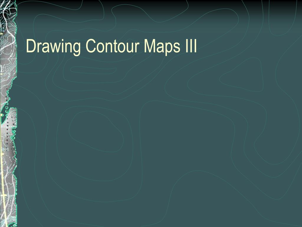 Contour Line Drawing Powerpoint : Ppt isolines powerpoint presentation id