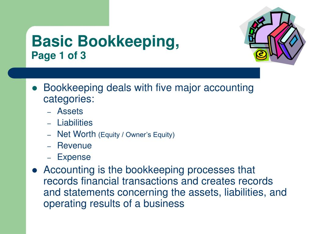 Basic Bookkeeping,