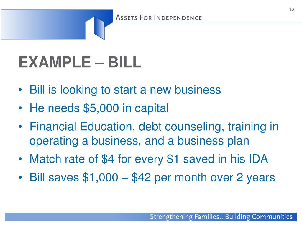EXAMPLE – BILL