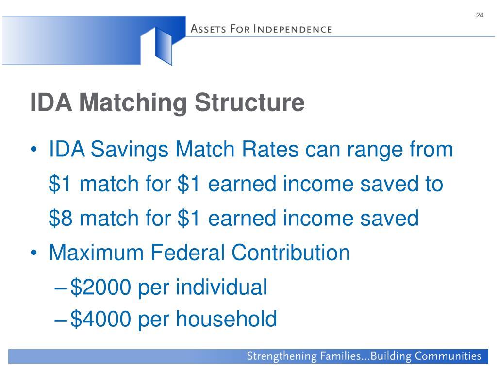IDA Matching Structure