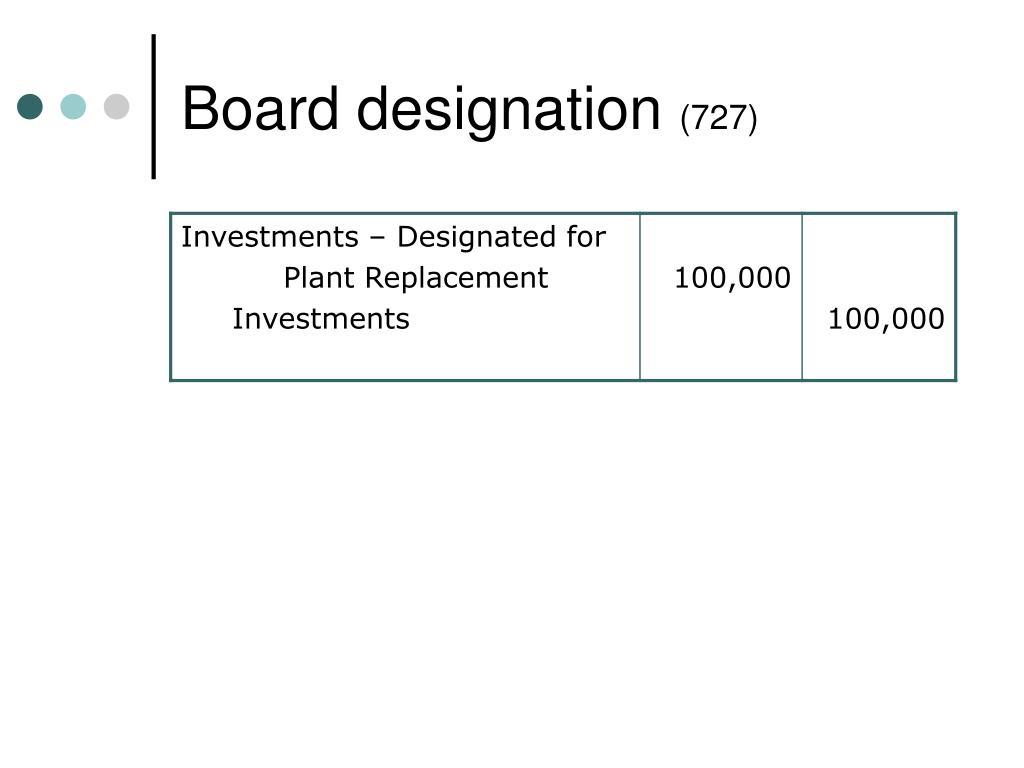Board designation