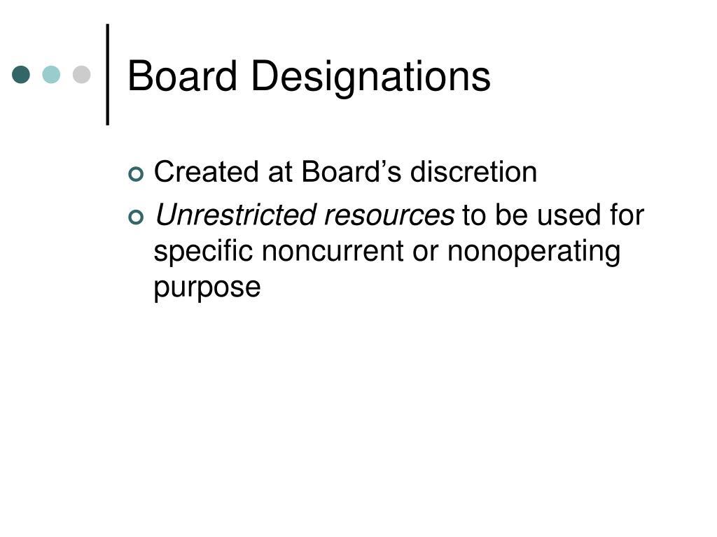Board Designations