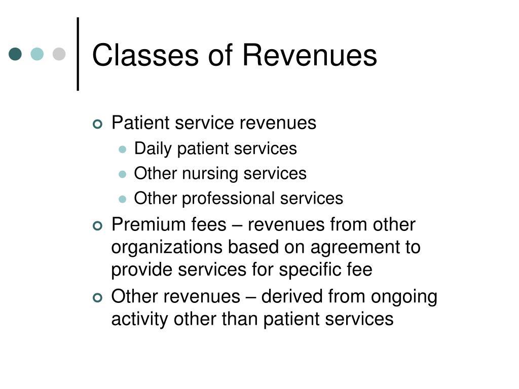 Classes of Revenues