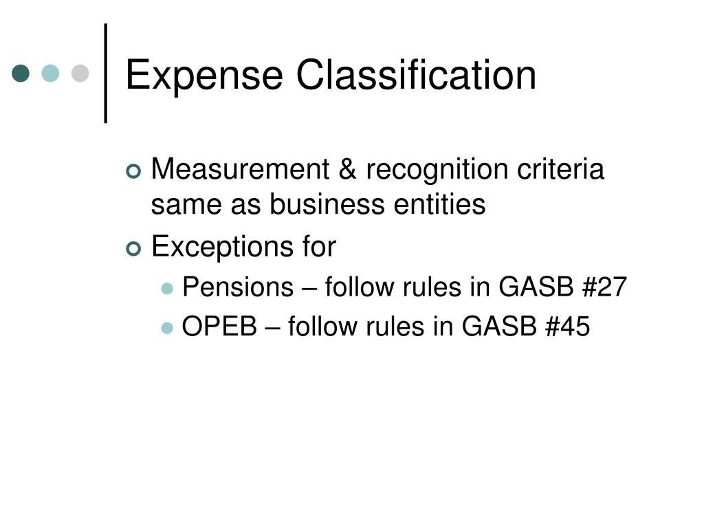 Expense Classification