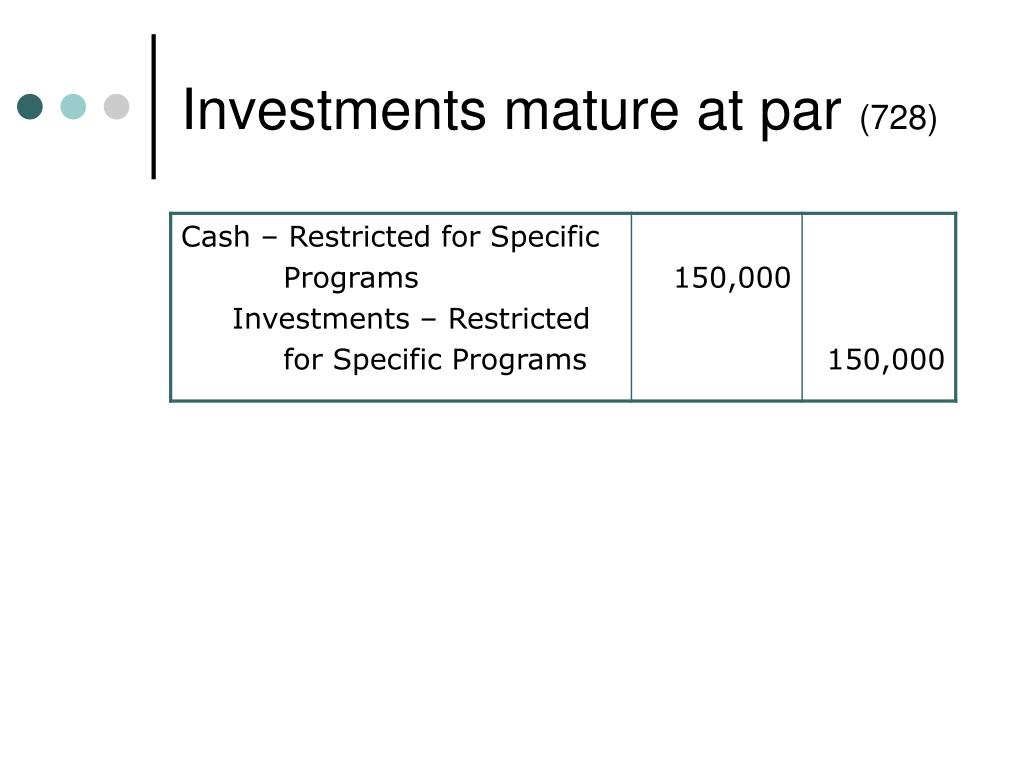 Investments mature at par