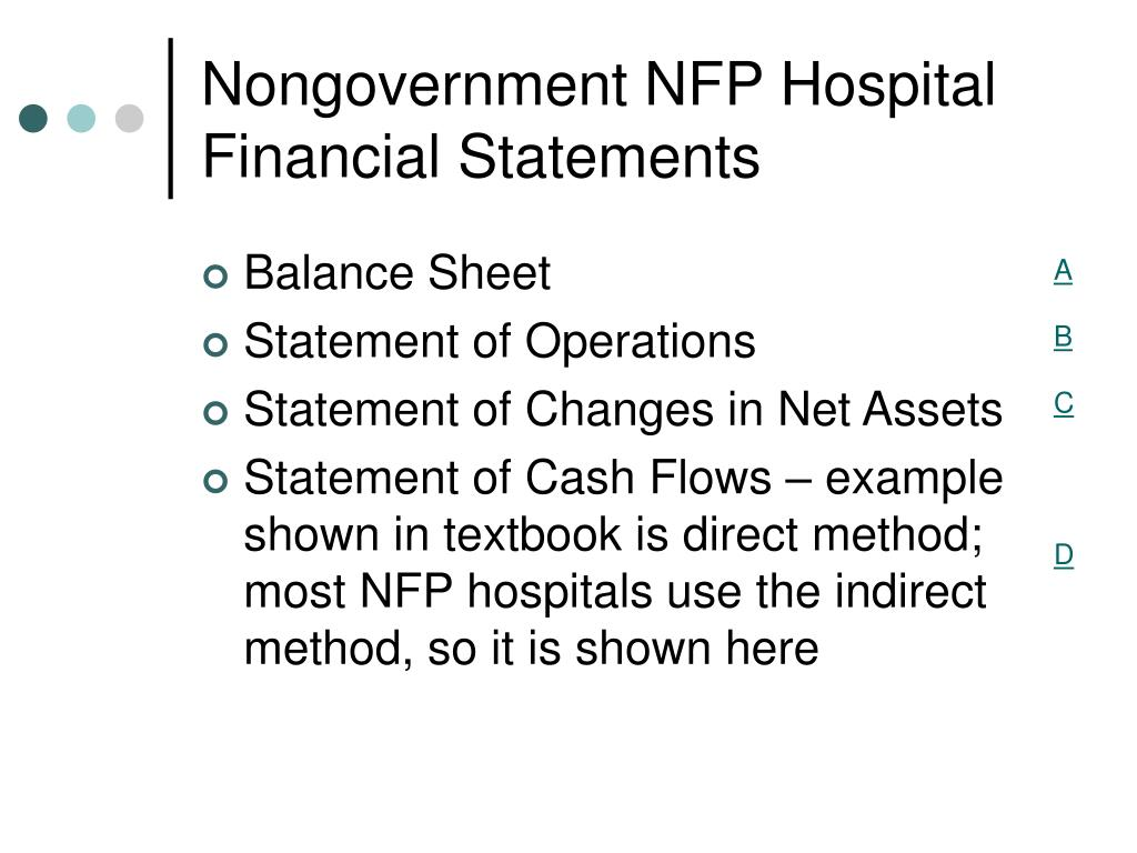 Nongovernment NFP Hospital Financial Statements