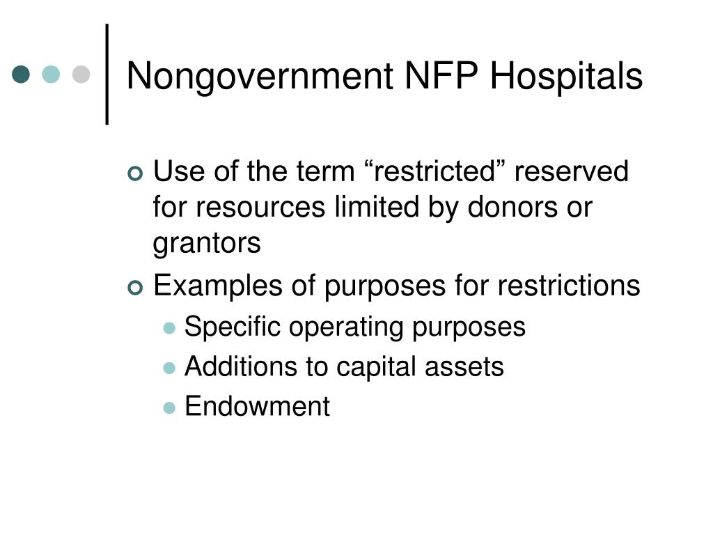 Nongovernment NFP Hospitals