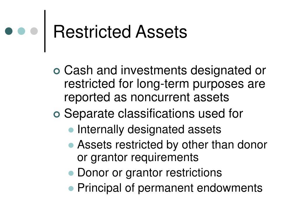 Restricted Assets