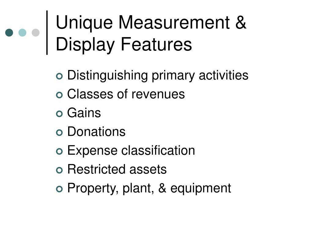 Unique Measurement & Display Features