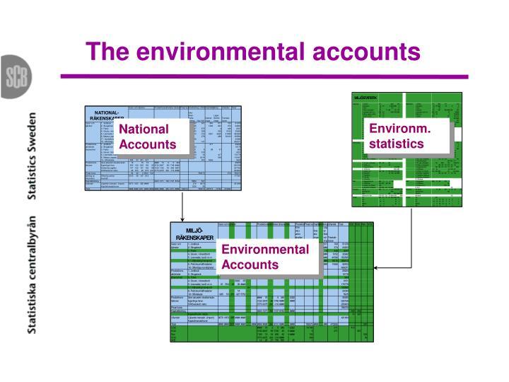 The environmental accounts