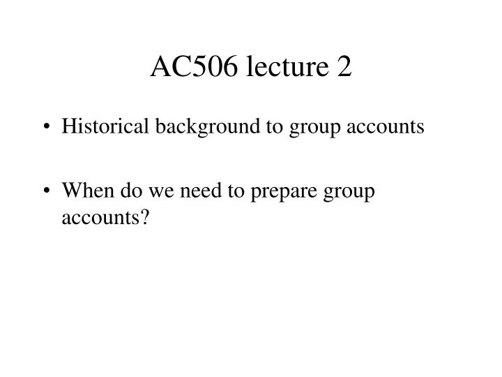 AC506 lecture 2