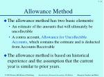 allowance method1