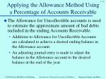 applying the allowance method using a percentage of accounts receivable1