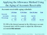 applying the allowance method using the aging of accounts receivable1