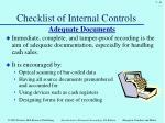 checklist of internal controls4