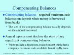compensating balances