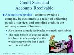 credit sales and accounts receivable