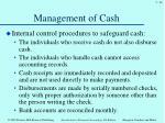 management of cash2