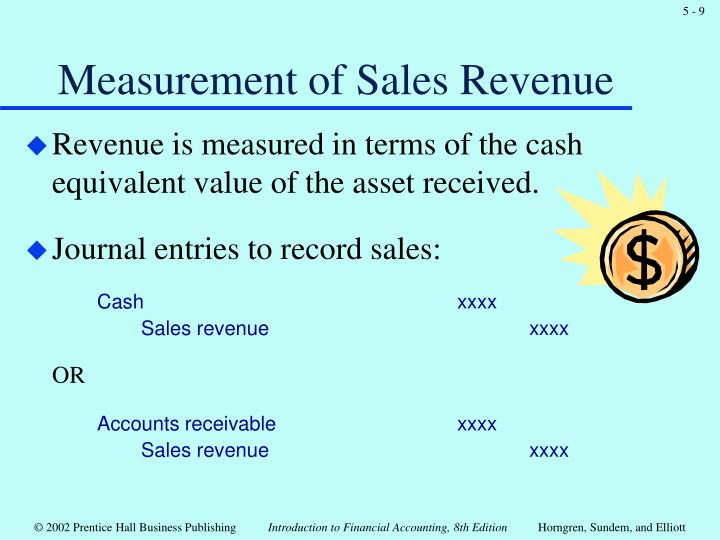 Measurement of Sales Revenue