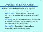 overview of internal control2