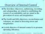 overview of internal control4