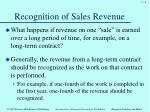 recognition of sales revenue4