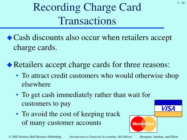 Recording Charge Card Transactions