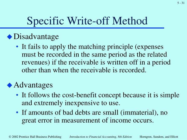 Specific Write-off Method