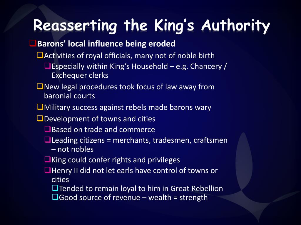 Reasserting the King's Authority
